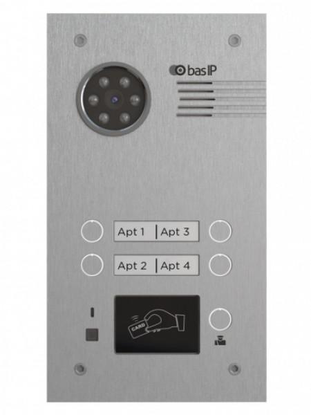 Панель вызывная BAS-IP BA-04E SILVER