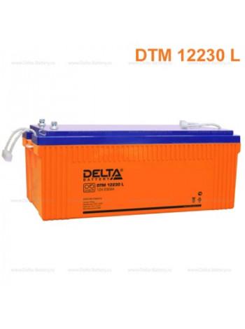 Аккумулятор свинцово-кислотный Delta DTM 12230 L