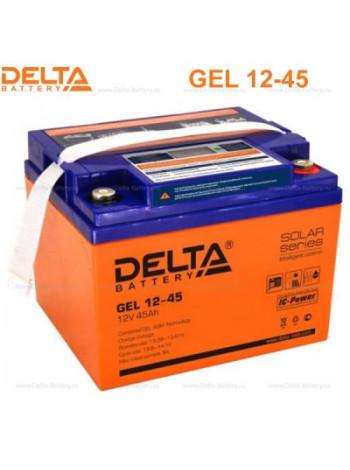 Аккумулятор свинцово-кислотный Delta GEL 12-45