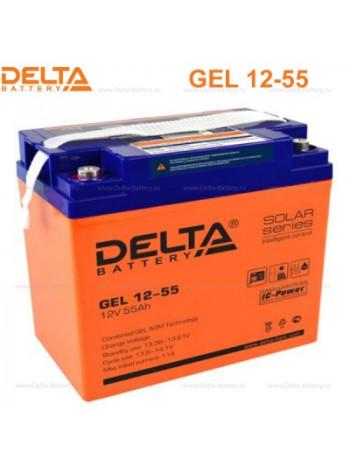Аккумулятор свинцово-кислотный Delta GEL 12-55
