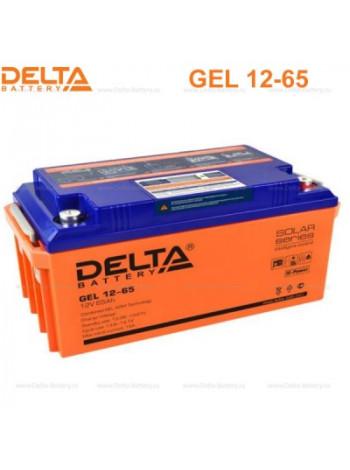 Аккумулятор свинцово-кислотный Delta GEL 12-65