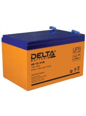 Аккумулятор свинцово-кислотный Delta HR12-51W