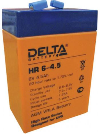 Аккумулятор свинцово-кислотный Delta HR6-4.5