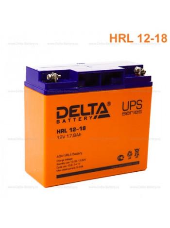 Аккумулятор свинцово-кислотный Delta HRL 12-18