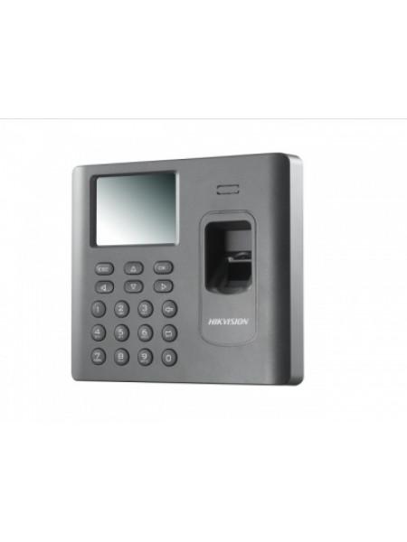 Терминал доступа со встроенными считывателями EM карт и отпечатков пальцев Hikvision DS-K1A802EF-B