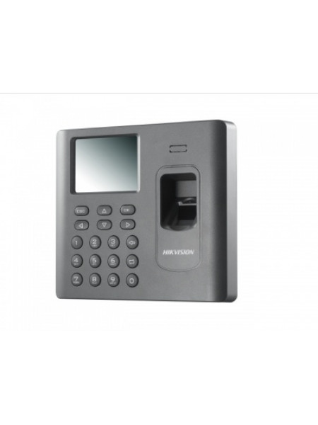 Терминал доступа со встроенными считывателями EM карт и отпечатков пальцев Hikvision DS-K1A802MF-B