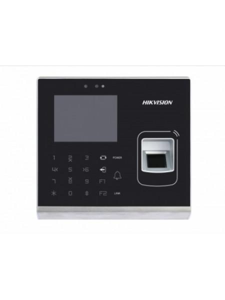 Терминал доступа со встроенными считывателями EM карт и отпечатков пальцев и 2Мп камерой Hikvision DS-K1T201MF-C