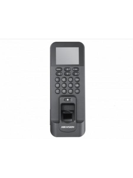 Терминал доступа со встроенными считывателями EM карт и отпечатков пальцев и 2Мп камерой Hikvision DS-K1T804EF