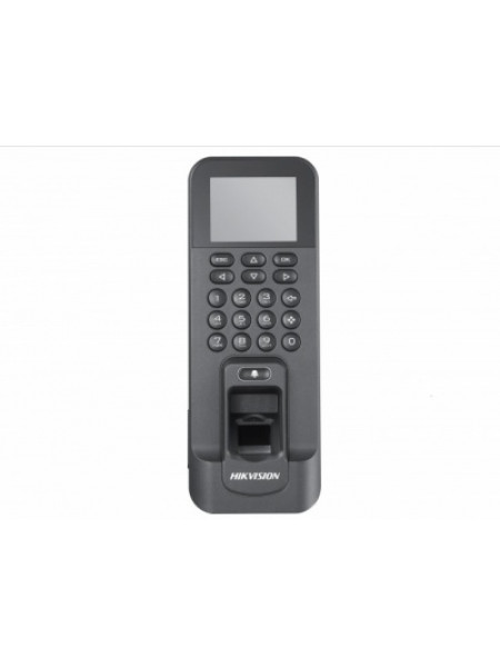 Терминал доступа со встроенными считывателями EM карт и отпечатков пальцев и 2Мп камерой Hikvision DS-K1T804MF