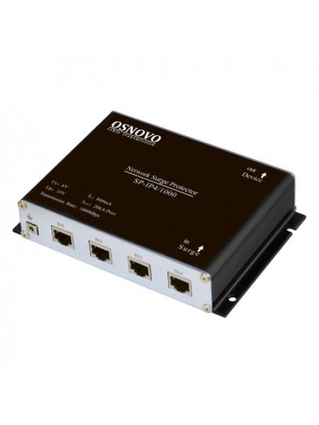 Устройство грозозащиты для локальной вычислительной сети, 4 порта OSNOVO SP-IP4/1000