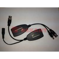 Приемо-передатчик видео (BNC) + питание по витой паре (8P8C) (комплект 2 шт) REXANT 05-3091