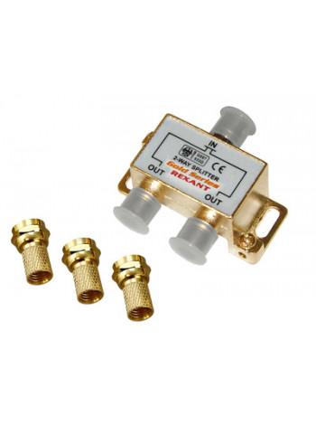 Делитель телевизионный ТВx2 + 3 шт. F BOX 5-1000 МГц GOLD (10шт/уп) REXANT 05-6101-1