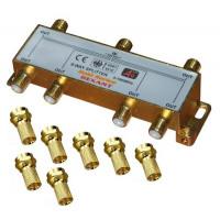 Делитель телевизионный ТВx6 + 7 шт. F BOX 5-1000 МГц GOLD (5шт/уп) REXANT 05-6104-1