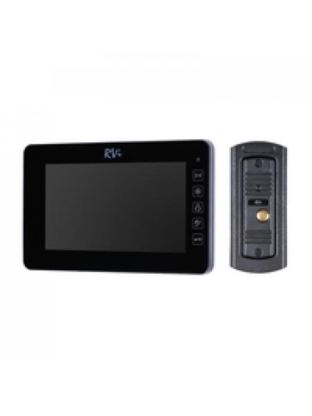 Комплект видеодомофона RVi-VD7-11M (черный) + RVi-305 LUX