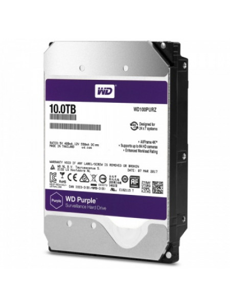 "Жесткий диск Western Digital Purple HDD 10 Tb  SATA-III 3.5"" WD100PURZ"