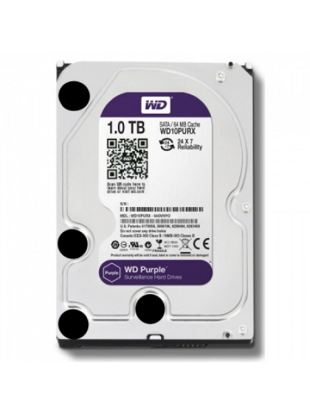 "Жесткий диск Western Digital Purple HDD 1 Tb SATA-III 3.5"" WD10PURZ"