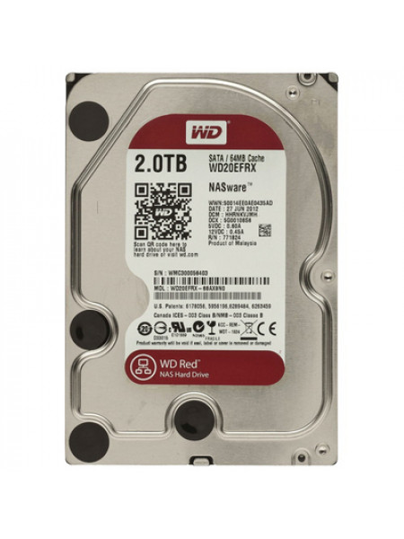 "Жесткий диск Western Digital Red HDD 2 Tb SATA-III 3.5"" WD20EFRX"