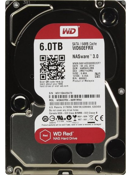 "Жесткий диск Western Digital Red HDD 6 Tb SATA-III 3.5"" WD60EFRX"