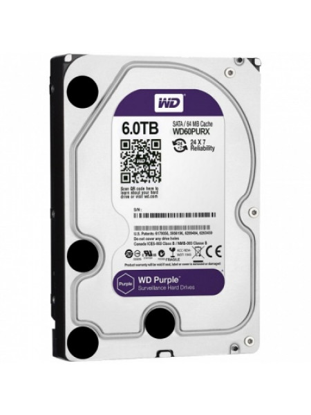 "Жесткий диск Western Digital Purple HDD 6 Tb SATA-III 3.5"" WD60PURZ"