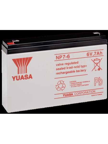 Аккумуляторная батарея<br /> Аккумулятор 6В 7 А∙ч (NP7-6)