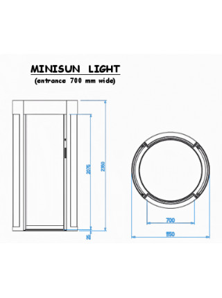 Шлюзовая кабина<br /> MINISUN  light