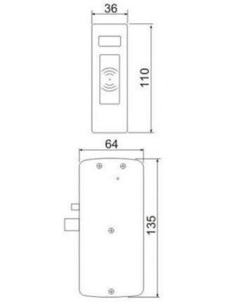Замок мебельный<br /> Z-496 EHT (серебро)
