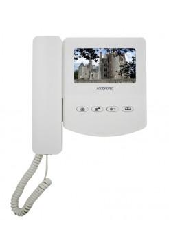 Монитор видеодомофона<br /> AT-VD 433C K EXEL (белый) (= QM-433C K EXEL)