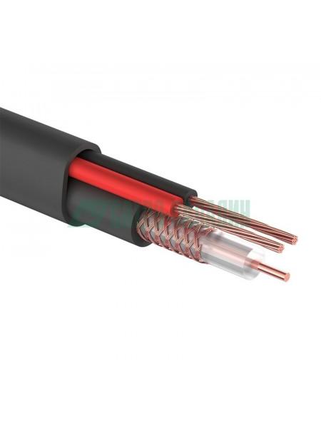 Кабель<br /> КВК-П-2 +2x0,75 мм² (Cu/Cu) черный (бухта 200 м) REXANT (01-4105)