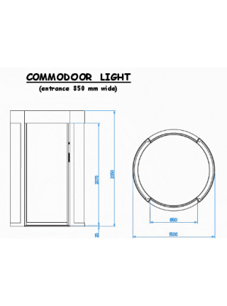 Шлюзовая кабина<br /> COMMODOOR  light