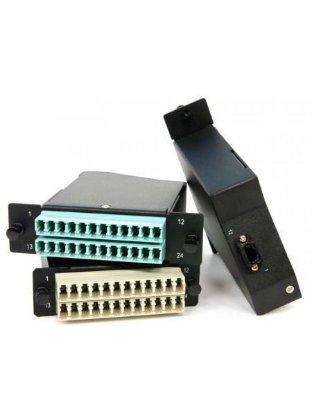 Волоконно-оптическая кассета<br /> FO-CSS-W120H32-503-2MTPM-24LC-AQ