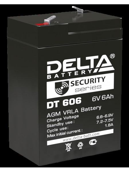 Аккумуляторная батарея<br /> Аккумулятор 6В 6 А∙ч (DT 606)