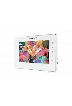 Монитор видеодомофона<br /> E-1260 M/Wt/Si белый с серебристой металлической рамкой