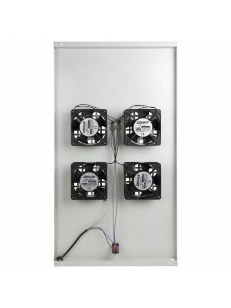 Модуль вентиляторный<br /> Модуль вентиляторный потолочный с 4-мя вентиляторами без термостата, для шкафов серии Standart с глубиной 1000мм 04-2602